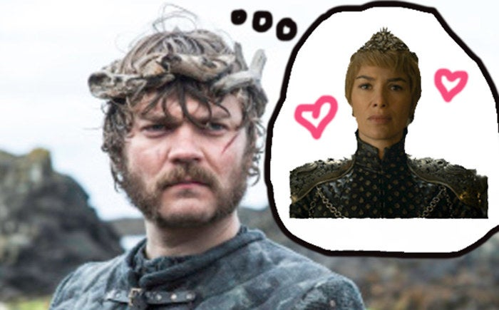When Euron was introduced to us, he revealed his plan to get with Daenerys and claim the Iron Throne. But Yara and Theon got to Dany first, automatically making Dany and Euron enemies. Dany and Cersei are also enemies, so naturally, Euron's next move could be to ally with the woman already on the throne —and in Game of Thrones, alliances are often solidified by marriage.