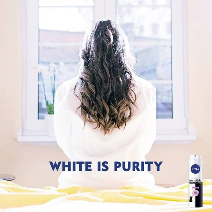 Image result for nivea white is purity ad