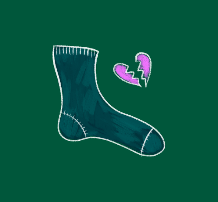 And finally, that one sock just floating around in your sock drawer because you lost the other one in the laundry.