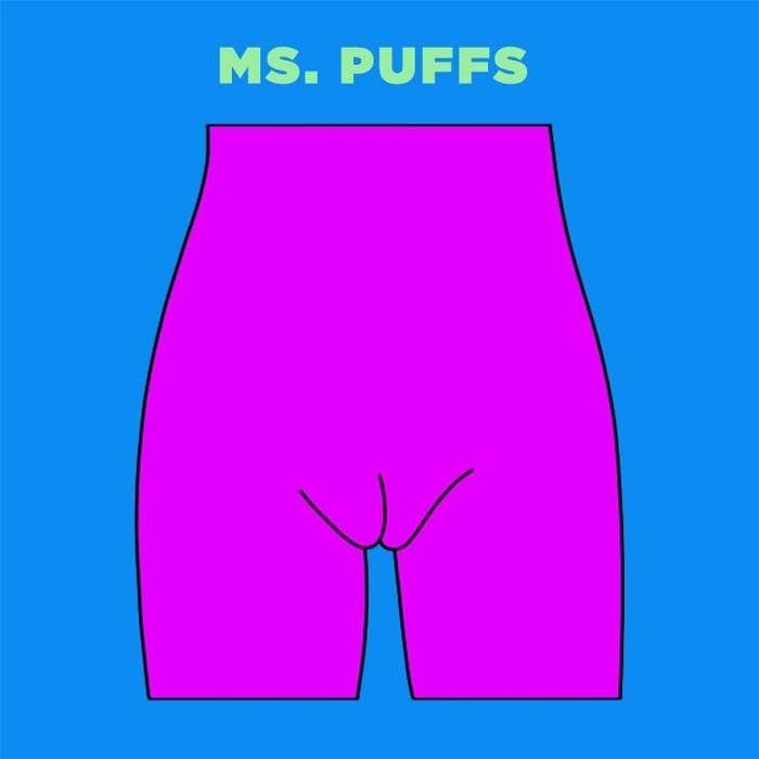 The Ms. Puffs vag is similar to Ms. Barbie, but the lips stick out a bit  more from the pubic bone.