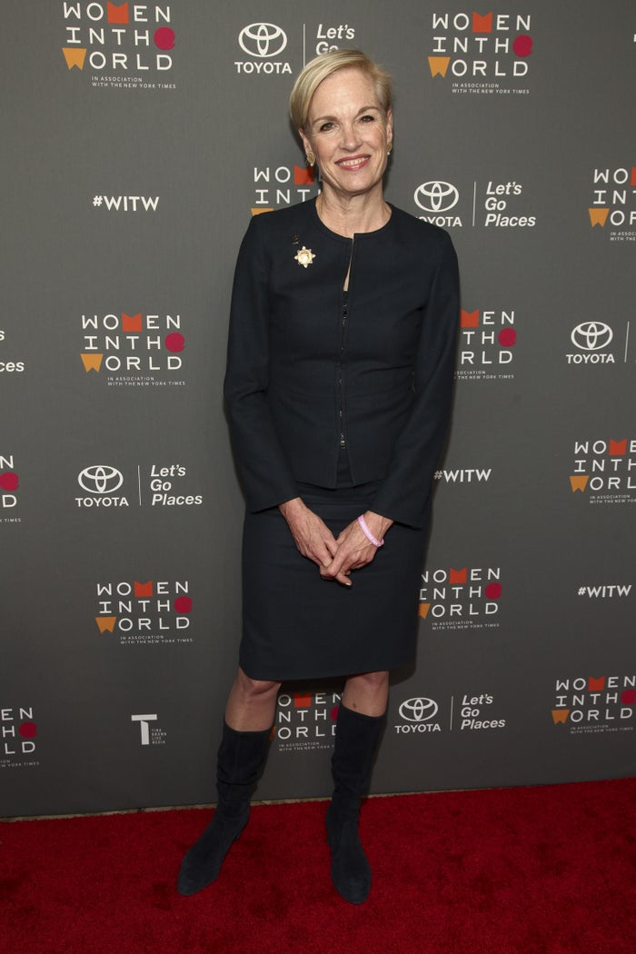 Cecile Richards at the Women in the World Summit in New York on Wednesday.