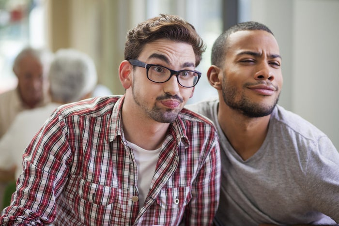 When you meet a guy you didn't realize was gay, look for something else to comment on. Throw him a compliment. He'll love it.