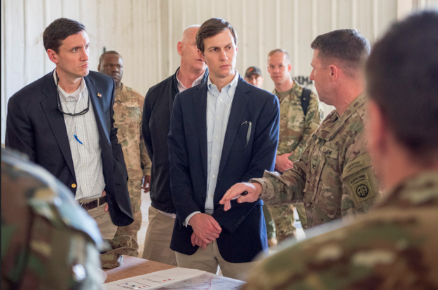 On Tuesday, Trump advisor Jared Kushner met with US service members in Qayyarah West, Iraq.