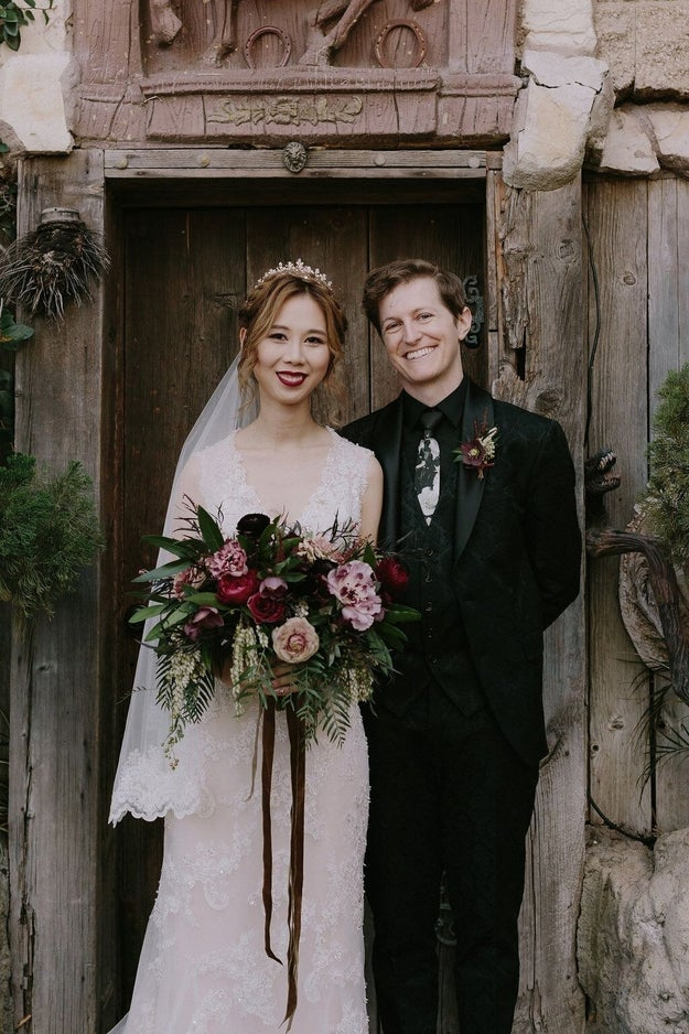Cindy and Matt are just a couple of gorgeous newlyweds who happened to have maybe the most stunning Harry Potter-themed wedding ever.