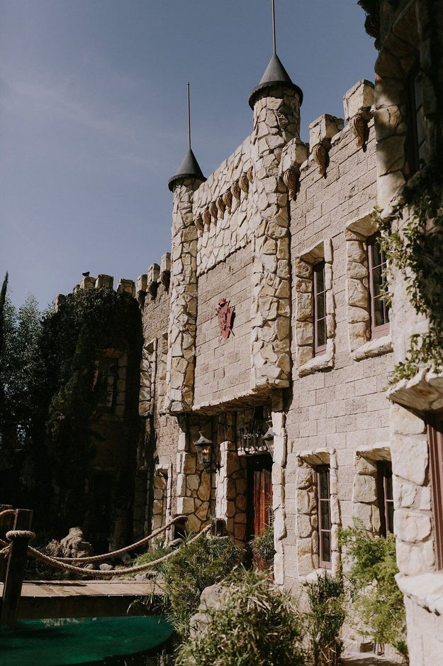 Exhibit B: Their positively Hogwarts-esque wedding venue, Hollywood Castle in Los Angeles.