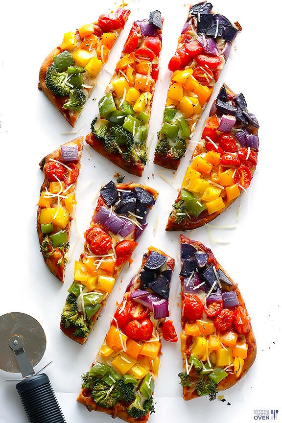 Two words: Rainbow. Pizza. Get the recipe here.