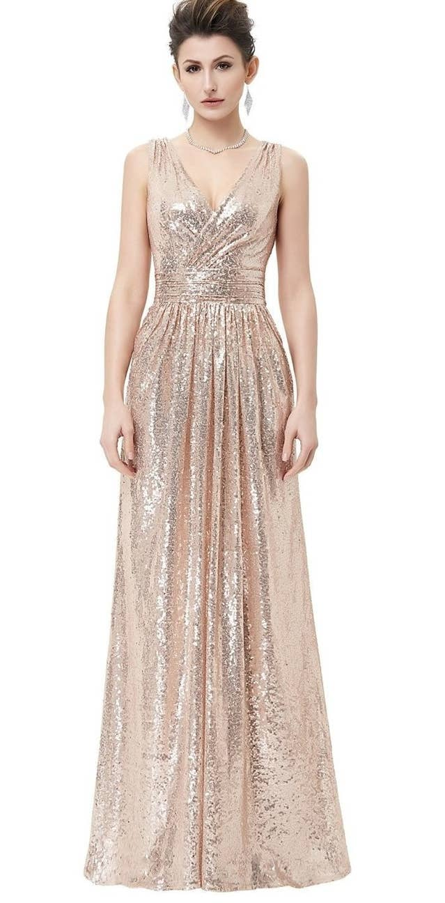 34 prom dresses you can get on amazon that youll actually want to a sequined dress designed to look like pure goldbut is thankfully not as expensive phew ombrellifo Image collections