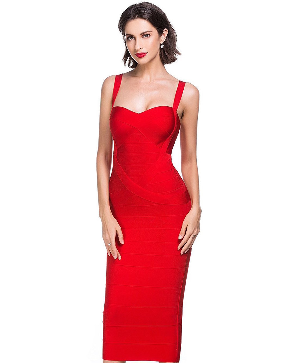Red cocktail dress size 0 average