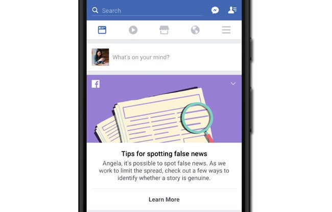 What the new educational tool will look like in News Feed.