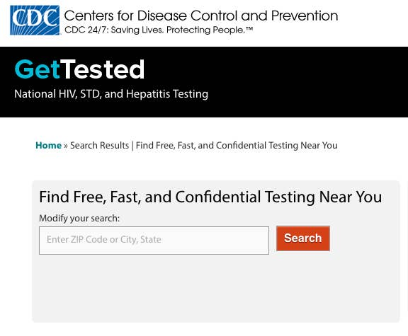 GetTested is a free website run by the CDC. Just enter your location to see