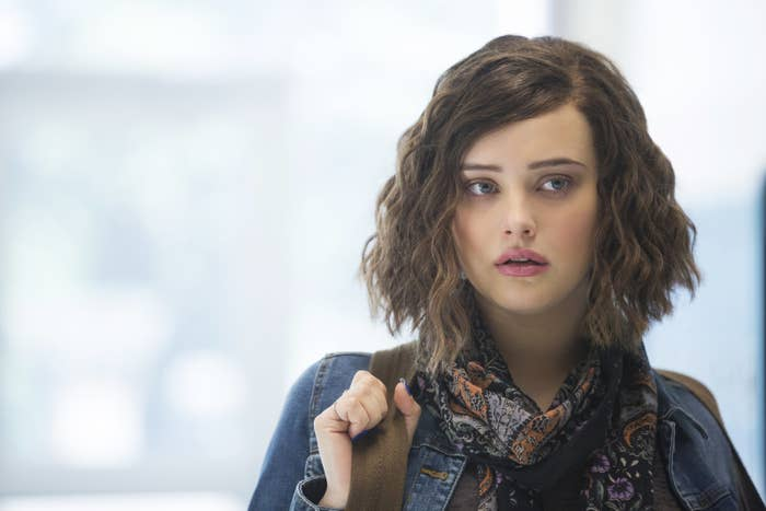 Hannah Baker (Katherine Langford) in the Netflix series 13 Reasons Why.