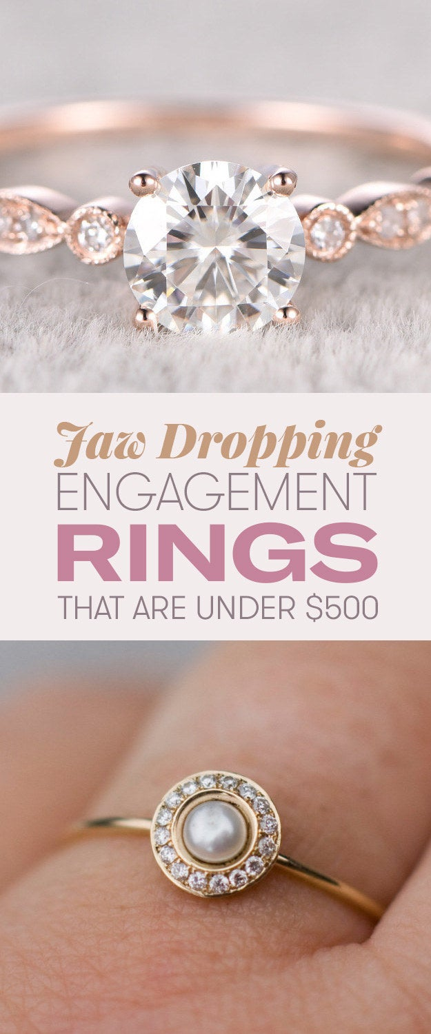 18 gorgeous engagement rings under $500 that'll make your jaw drop