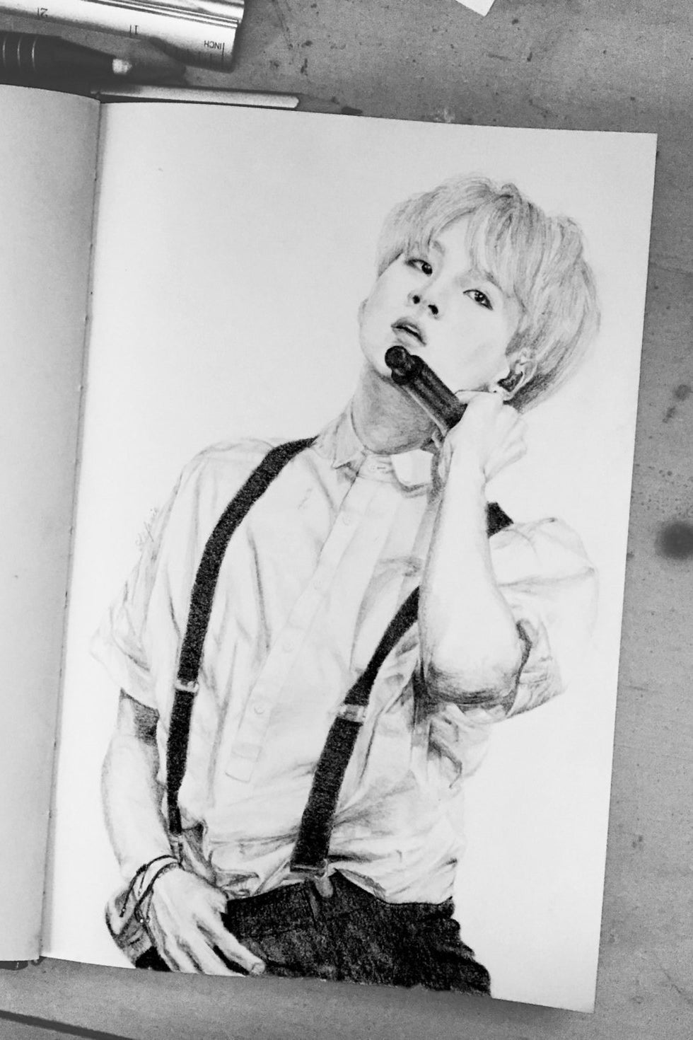 Hand Drawn Made To Order K Pop Portraits For A Truly One Of Kind Nod Your Bias