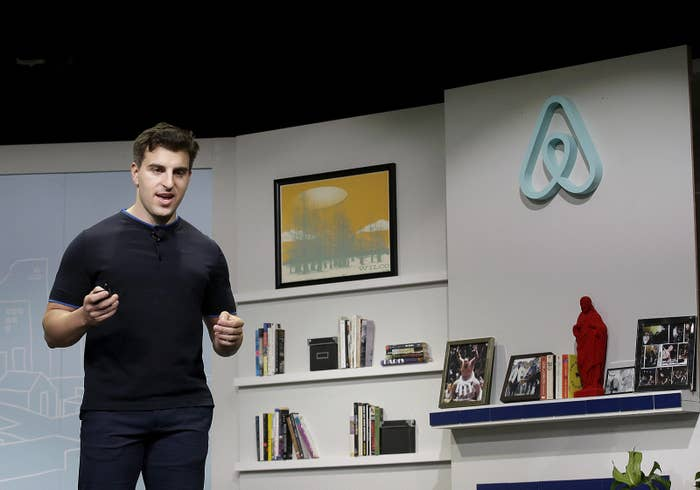Airbnb co-founder and CEO Brian Chesky speaks during an event in San Francisco in 2016.