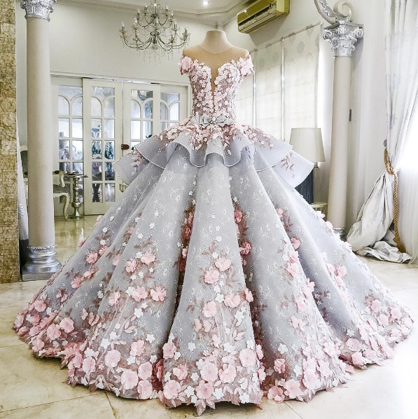 This is designer Mak Tumang's jaw-dropping Angela wedding dress, aka a fairy princess gown come to life.