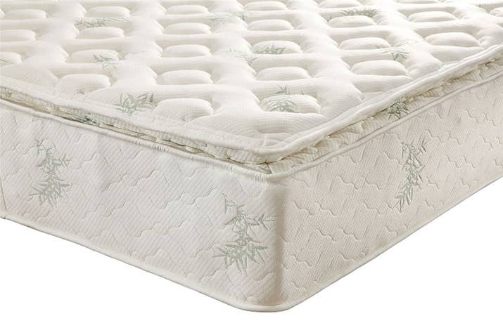 "Promising Review: ""Going on about eight months now. No flat spots, no blown springs. This bed is still amazingly comfortable, has lots of support, and the foam top really relaxes my tired back at the end of the day."" —GinoPrice: $210.27+ Sizes: full, queen, and kingThickness: 13-inchTry it with this premium steel foundation for $92.42+ (available in twin, full, queen, and king) and industrial canopy frame for $166.23+ (available in queen). Box spring not required, but reviews say it's OK to use if you prefer one."