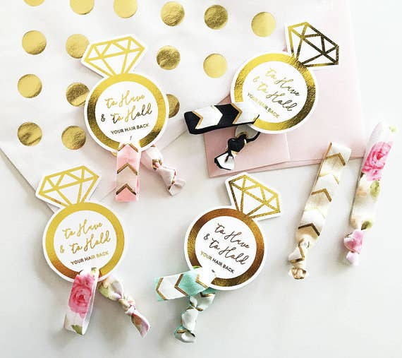 "Promising Review: ""These were such a special touch to my bridesmaid proposal boxes. Super cute and shipping was fast!"" --April BrixeyGet a set of six from ModParty on Etsy for $12 (available in five colors)."