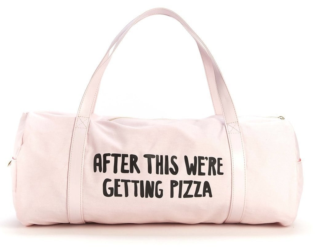 A self-explanatory duffel bag applicable to all kinds of bridal party obligations...and any life events, really.