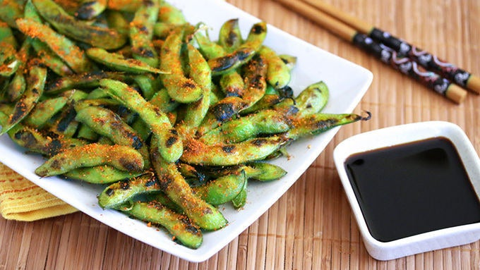 This flavor-packed snack proves that smoke and salt are two peas in an (edamame) pod. Get the recipe here.