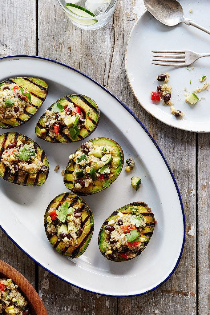 Move over pineapple, avocados are the new go-to fruit for grilling. Serve them on a burger, fill 'em with a summer grain salad, or eat them as is! Get the recipe here.