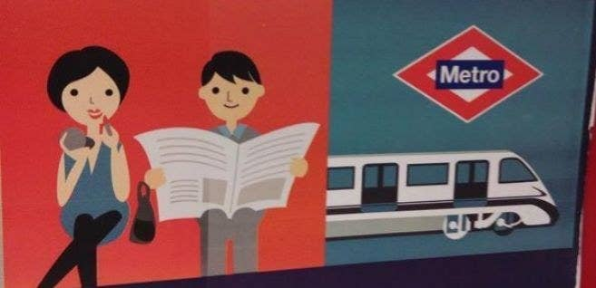 Porque todo el mundo sabe que las mujeres utilizamos el viaje en metro para pintarnos los morros y que los hombres siguen leyendo periódicos en papel.
