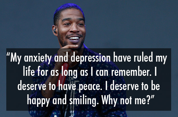 Kid Cudi spoke about his struggle with anxiety and depression after checking himself into rehab.