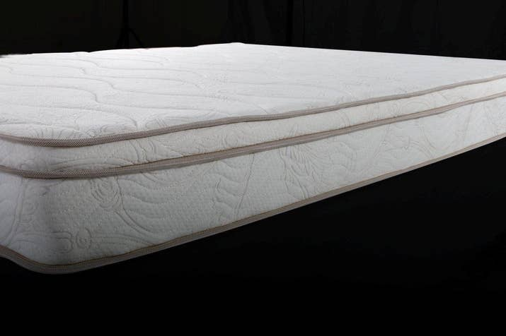 "Promising Review: ""I don't even understand how an $85 mattress can be this comfortable, but somehow it is. I have a crappy back and have woken up with less pain than with my Beautyrest Black mattress. I bought this as a temporary mattress because I'm living out of state for six months. It doesn't need a topper. As someone that prefers a soft mattress, but needs good support, this is perfect. Given the price and quality, it's probably made with witchcraft and blood of the innocent. I'm okay with that."" —En_GrisPrice: $44.99+ Sizes: twin, full, queen, and kingThickness: 8-inchTry it with this box spring for $79.99+ (available in 4-inch and 8-inch, and sizes twin, full, queen, and king) and bronze metal frame for $125.06+ (available in full and queen)."