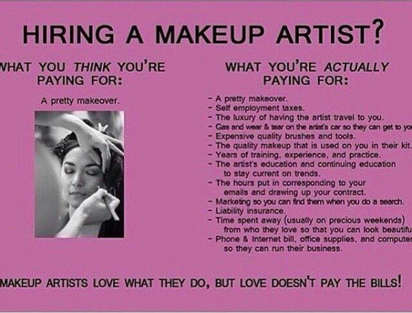 They have teeny-weeny operating costs because, let's be honest, they're only putting makeup on people.