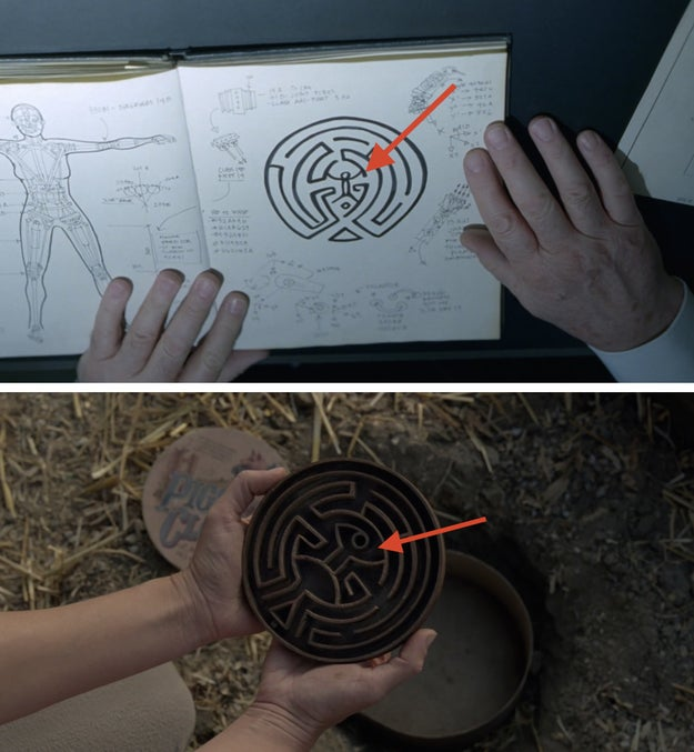 Redditor uhhhh_no pointed out that the initial maze pattern seen throughout the season had both arms stretched out, whereas the final puzzle showed one arm touching the head.