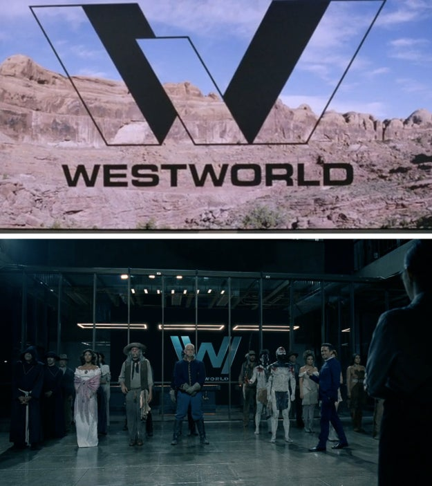The old Westworld logo seen when William first arrived should've indicated that his scenes were taking place in the past, as there's a new logo shown in the other, present day scenes.