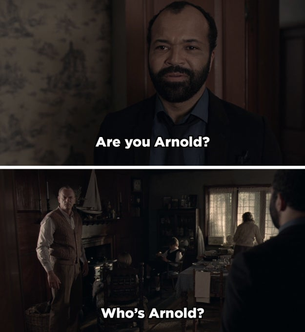 Then, in Episode 6, Bernard goes to the unmapped house and meets Ford's host family. He sees the man from the photo and he thinks it's Arnold. Learning that the man in the photo wasn't Arnold was a huge clue that there was something fishy about Arnold's actual identity.