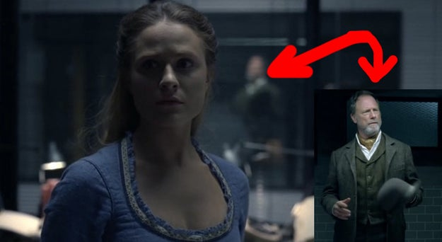 """You can also see and hear Dolores' """"father,"""" Peter in the background of this flashback."""