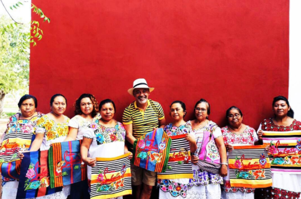 He travelled to Mexico to work with Taller Maya, a studio brand that partners with artisans from the Yucatan Peninsula who create authentic pieces with history cultural value.
