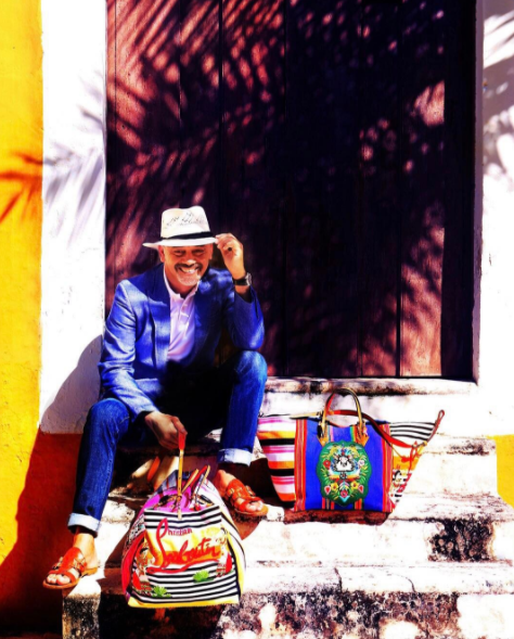The famous French designer used traditional Mexican weaving and embroidery techniques for his new Treasure Tote: MEXICABA.