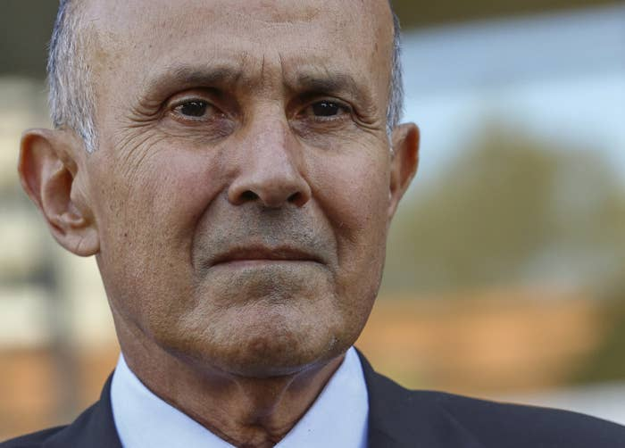 Former Los Angeles County Sheriff Lee Baca outside court in March 2017.
