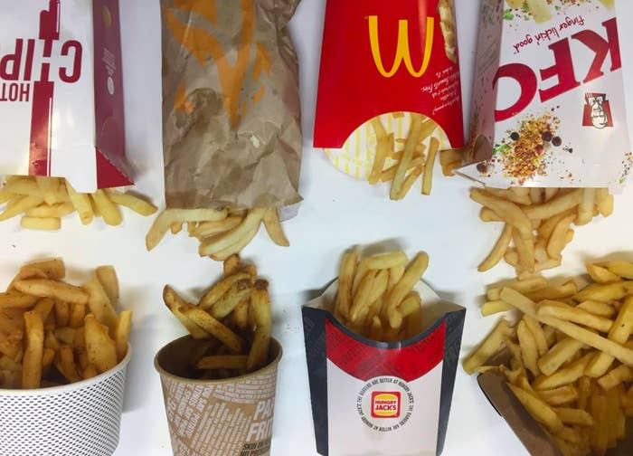 Well, don't you worry because three of us put out mouths to the test (heh) in a super scientific* chip taste test. We tried out eight different chips from eight fast food joints to find out which reigned supreme. We ranked each out of 10, for a total score out of 30. *Look we know it's subjective but you're probably going to drag us in the comments either way, so we're ready.