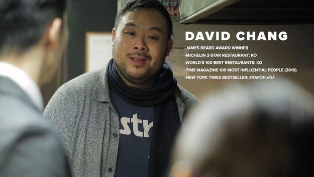 Chef David Chang, creator of Momofuku, came along to help navigate Korean cuisine.