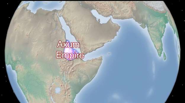 To the Axum empire.