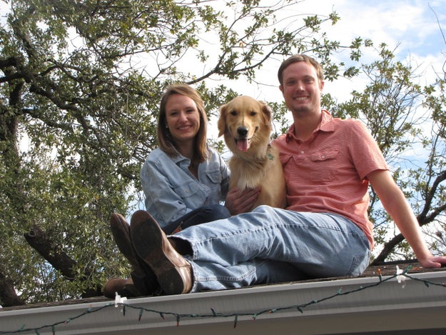 And these are his humans, Allie and Justin Lindenmuth.