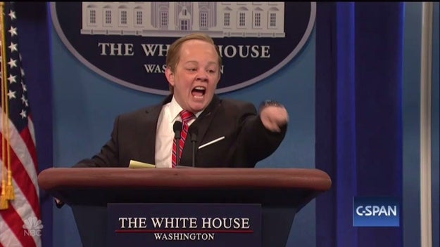 Melissa McCarthy returned to Saturday Night Live and we finally know why she rode around Manhattan in a motorized podium: She was looking for Trump to make things right.