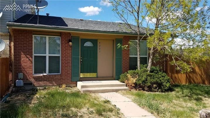 Size: Two bedrooms, two full and one-half bath, 884 sq. ft. Location: Eastborough neighborhood in the city of Colorado Springs.