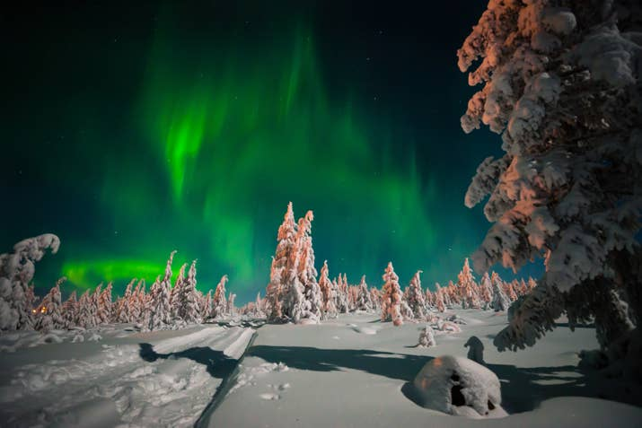 —Danae Balcells Moliné, FacebookIf you visit the arctic circle from October through March, you just might get lucky enough to see the neon aurora borealis dancing in the sky.