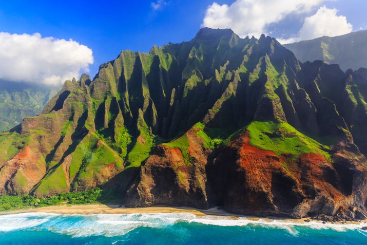 —ashleydfYou might recognize this 16-mile stretch or coast in Kauai with its hidden beaches and sea-carved cliffs from Spielberg's Jurassic Park series.