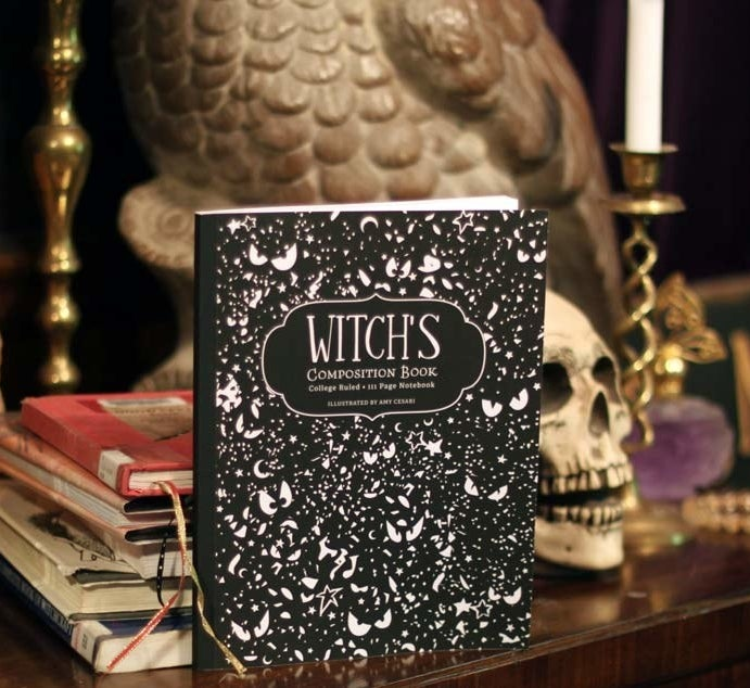 This notebook includes a page with astrological dates and runes, plus contains gorgeous illustrations for anyone inclined to doodling. Get it from Amazon for $9.99.