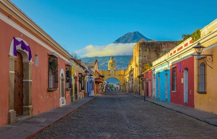 —LuluhbAbout an hour from Guatemala City, this former capital is a relic of colonial Spain. Just beyond the Crayola-colored town are three giant volcanoes, which make for some pretty spectacular day trips.