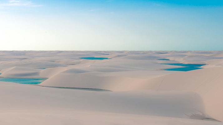 —Eduarda De Souza Queiroz, FacebookThis Brazilian national park may look like a desert, but It's actually miles and miles of white sand dunes dotted with crystal lagoons.