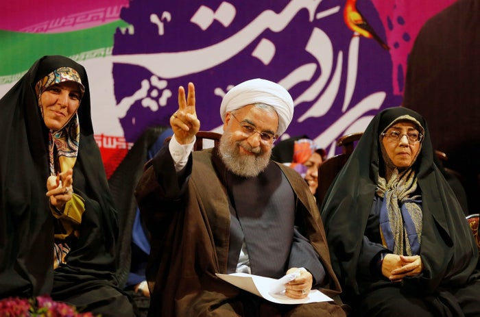 ranian President Hassan Rouhani during a campaign rally for his re-election in Tehran.