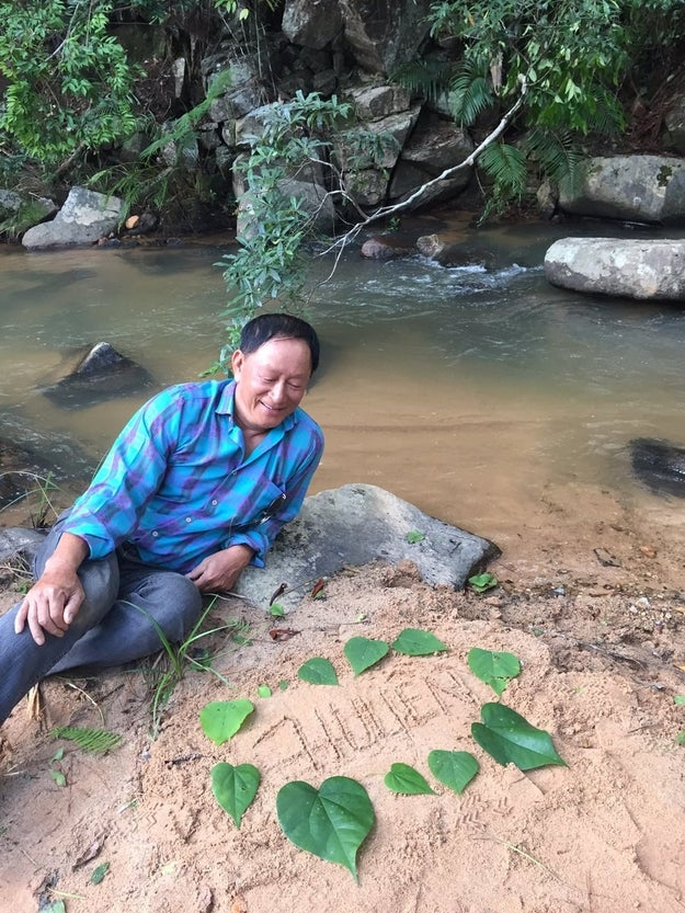 """After sending the photos to Huyen, Angeline's dad said """"It made her very happy."""""""