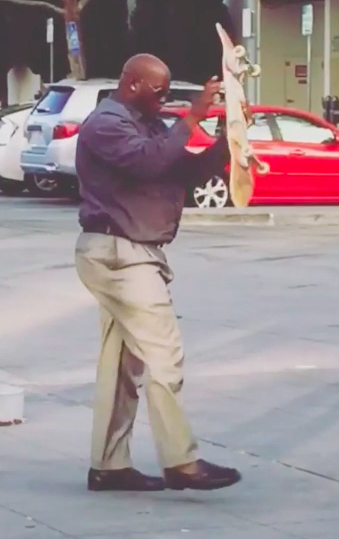 This Middle-Aged Guy Skateboarding Might Be The Best Thing You'll See All Day