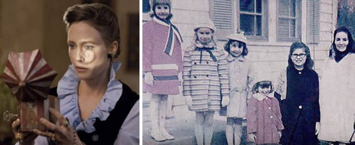 The movie is based on the story of the real demonic haunting of the Perron family in Rhode Island in the '70s, and the oldest daughter says her family actually suffered from the hauntings for nine years. NINE. —emilianol4